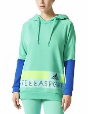 Adidas Womens Stellasport Long Hoodie Medium Bright Green