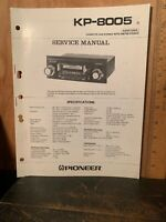 Pioneer KP-8005 Cassette Car Stereo Super Tuner Service Manual.