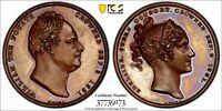 GREAT BRITAIN 1831 Bronze Medal Coronation of William IV  PCGS SP62 Eimer-1251