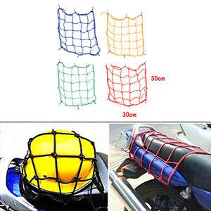 30x30cm Motorcycle Bike Bungee Tank Helmet Web Cords Mesh Cargo  Hook 4 Color~sf