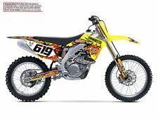 2004 2005 2006 RMZ 250 GRAPHICS KIT SUZUKI RMZ250 DECO DECALS STICKERS MOTO MX