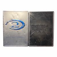 Xbox Video Game Bundle Lot Halo 2 Doom 3  Limited Collectors Edition