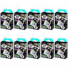 10 Packs 100 Photos Comic FujiFilm Fuji Instax Mini Film Polaroid 7S 8 50S SP-1