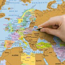 Carte du Monde à Gratter Planisphère en Français - Cadeau Maestro (NEUF)