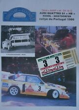 "DECAL  ADDITIF1/ 18 - AUDI QUATTRO S1 ""HB"" - ROHRL - RALLYE PORTUGAL 1986 (OTTO)"