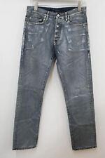 DIOR Men's Blue Silver Vintage Wash Cotton Straight Leg Jeans Size 31 W30 L31