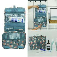 Hanging Toiletry Bag - Large Cosmetic Makeup Travel Organizer for Men & Women wi