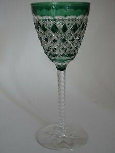 VINTAGE ROEMER WINE GLASS CRYSTAL VAL ST LAMBERT GEVAERT CARLTON GREEN