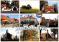 KREMMEN Brandenburg Gruss-Aus-Mehrbild-AK mit 9 Ansichten, Fotos, Photos, color