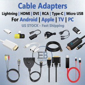 USB Adapters Micro USB / USBC / DP / HDMI / AUX Cable RCA lot TV Home ALL TYPES