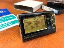 Boxed Seiko Quartz World Time Travel/Desk Alarm Clock S991 QEK153G Watch Digita
