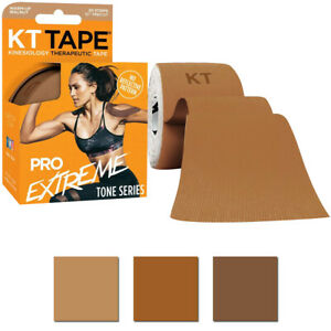 "KT Tape Pro Extreme Tone Series 10"" Precut Kinesiology Sports Roll - 20 Strips"