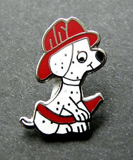 FIREFIGHTER DOG DALMATIAN FIREHOUSE CUTE FIRE HOSE PIN 3/4 INCH