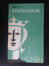 Rare ancien dépliant Brochure Stockholm