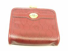 Authentic Christian Dior Trotter Pattern Coin Case Red Made in France