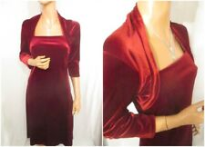 M&S UK:10 Rich Red Velvet Galaxy Dress Christmas Party Immaculate Condition!