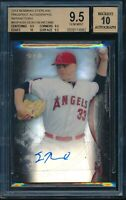 2014 Bowman Sterling Sean Newcomb Refractor RC Auto BGS 9.5 Gem Mint #d /150