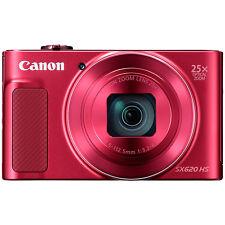 "Canon Powershot SX620 HD 1080p 20.2MP 3"" Screen Digital Camera Red (ML1743)"