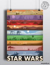 STAR WARS SAGA Film Compilation Art Minimalist Movie Poster Minimal Design Print