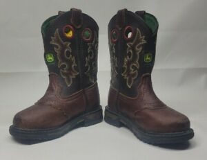 John Deere Western Boots Boys Kids Cowboy Boots 10.5M Child