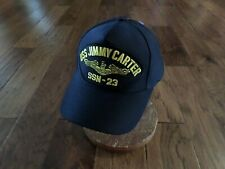 USS JIMMY CARTER SSN-23 NAVY SUBMARINE HAT U.S MILITARY OFFICIAL BALL CAP U.S.A