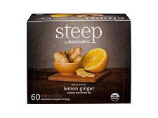 Steep by Bigelow USDA Organic Lemon Ginger Herbal Tea, 60 Tea Bags