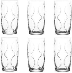 Retro design, LAV Lena Juice Glass Tumblers 365cc Set of 6
