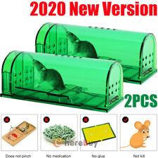 2x Mouse Trap Case Rat Catcher Cage Rodent Pest Humane Large Mousetrap Control