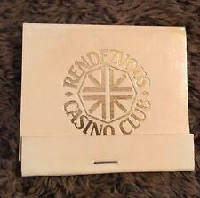 Vintage Matchbook The Rendezvous Casino Club Hilton Hotel London Unstruck