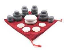 MassageMaster 24-PIECE HOT/COLD STONE MASSAGE SET: 18 Basalt & 6 Marble Stones