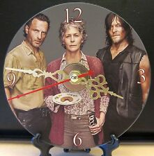 New The Walking Dead's Rick Carol and Daryl CD Clock Horror Zombies Nice!!