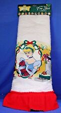 "Cinderella 42"" Round Christmas Tree Skirt Table Cover Disney"