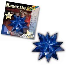 folia Bringmann Bascetta Stern Bastelset Transparentpapier 20x20cm 30-teilig blau