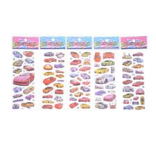 5 Sheets Mini Car Scrapbooking Stickers Bubble Puffy Stickers Reward Kids ToyM&C