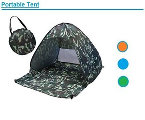 Ventilated Anti UV Instant Pop Up Portable Beach Fishing Hiking Shelter Tent