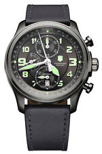 Swiss Army Infantry Vintage Automatic Chronograph Steel Mens Strap Watch 241526