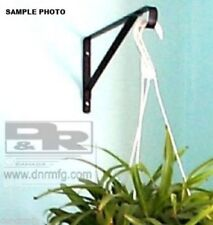 "NEW 2 PCS 17"" SILVER FLOWER BASKET HANGERS BRACKETS FOR HANGING GARDEN PLANTS"