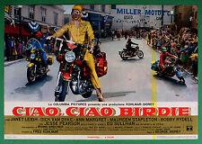 T66 FOTOBUSTA CIAO CIAO BIRDIE LEIGH VAN DIKE MOTO GILERA GILERA GUZZI MOTOR