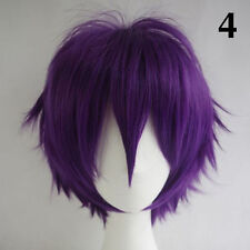 Women Men  Fashion Cosplay Short Full Wig Heat Resistant Anime Party Wigs