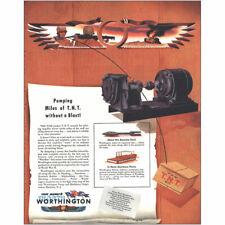 1944 Worthington: Bombeo Miles de Tnt Without a Blast Vintage Estampado Anuncio