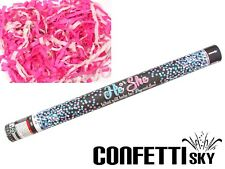 """24"""" Gender Reveal Confetti Streamer Cannon Girl Pink Baby Shower Party POP SEE"""