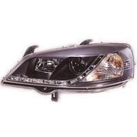 Set Design Scheinwerfer Opel Astra G 97-04 klar/schwarz LED Tagfahrlicht 1015106