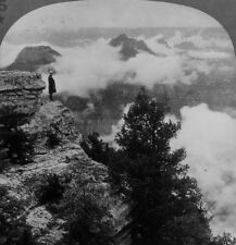 Keystone Stereoview of Mist Rising, Grand Canyon From 1930's Scenic America Set