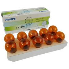 Genuine PHILIPS Eco Vision Amber Indicator Bulb 12V 21W (PY21W BAU15s)- 10 PACK