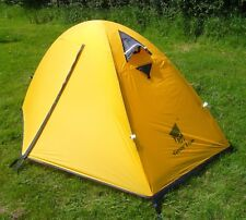 Lightweight 1 Person Backpacking Tent - Solo Camping Tent - YELLOW just 1.85 kg