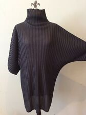 Pleats Please By Issey Miyake Grey Pleated Tunic Dress Size 5