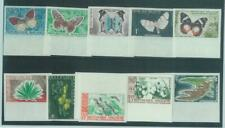 88685 - MADAGASCAR - Collectable STAMPS -  10  IMPERF stamps 1960  BUTTERFLIES