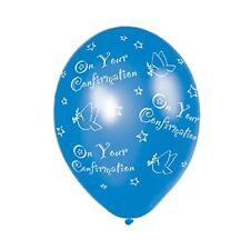 Amscan 27 5 cm Confirmation 25 Ballons en Latex avec Imprimé Intégral Bleu (7c2)