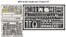 Eduard 1/32 Messerschmitt Me 262A-1 Schwalbe exterior para Trumpeter # 32551