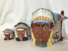 Lot# 1797. Set Of 3 Royal Doulton Character Jugs